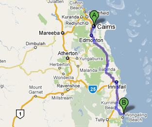 Cairns To Mission Beach
