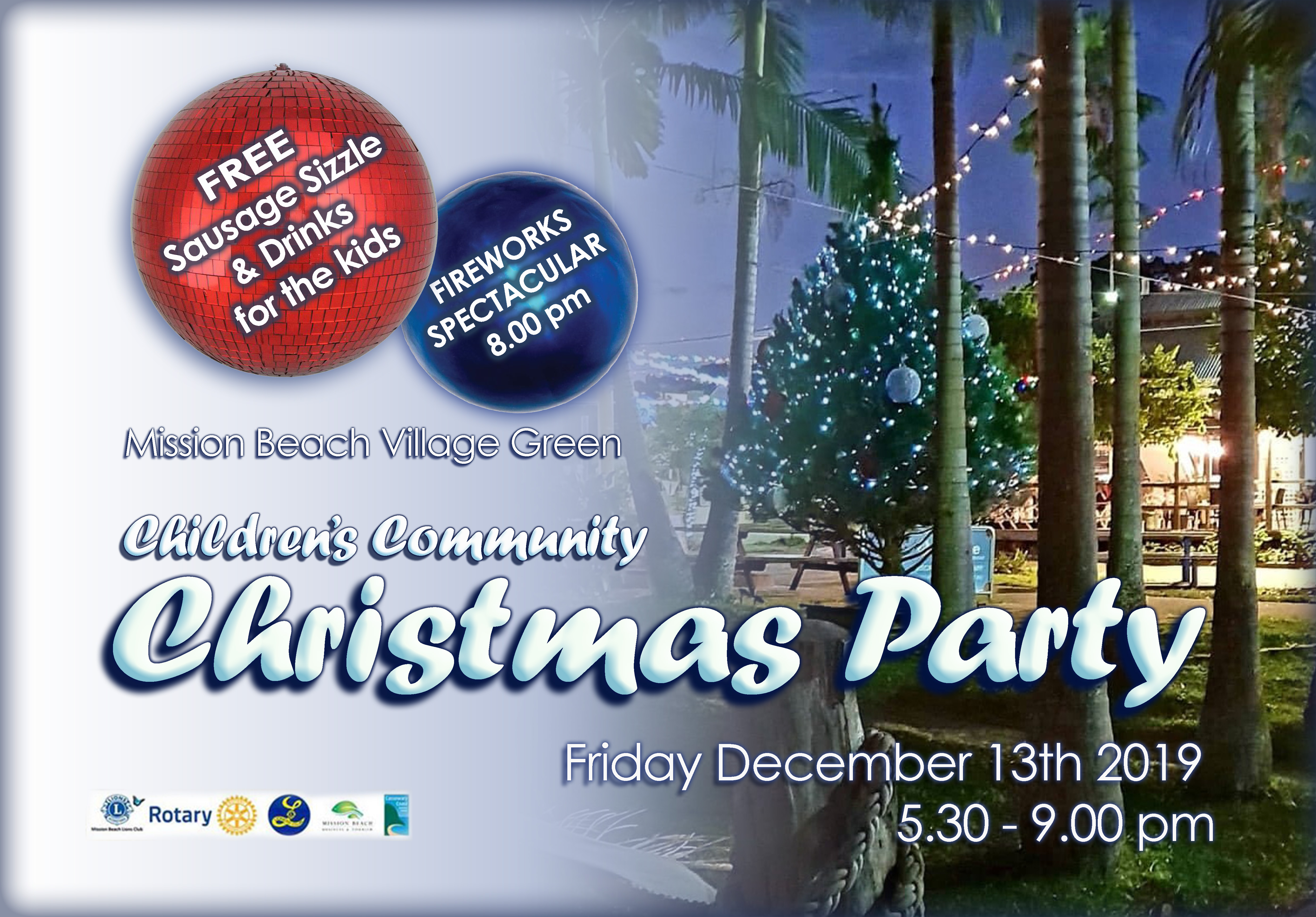 Mission Beach Village Green Christmas Party Mission Beach Tourism