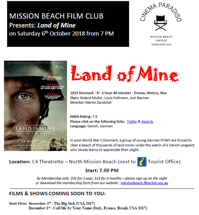 cinema October - Mission Beach Tourism